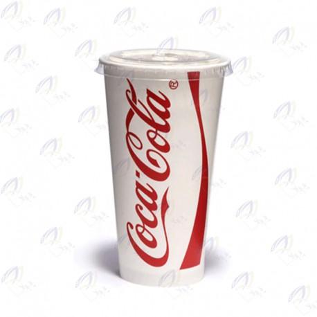لیوان کاغذی درب نی خور 360 سی سی