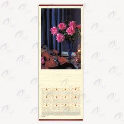 تقویم دیواری حصیری طرح گل
