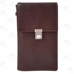 کیف پاسپورتی گردنی قفل دار چرمی