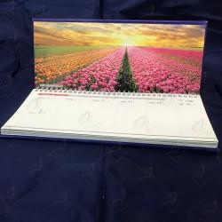 تقویم رومیزی اختصاصی هفتگی با پایه جلد سازی