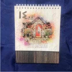 تقویم رومیزی آماده طرح طبیعت سال 1400